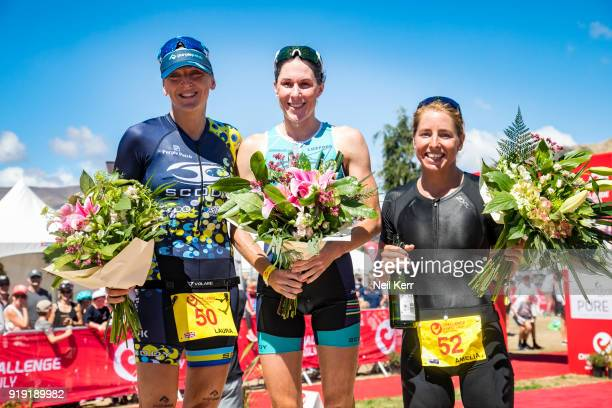 Women's Pro Half podium 2018 Challenge Wanaka on February 17 2018 in Wanaka New Zealand