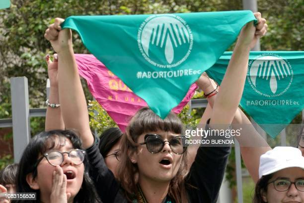 Women's rights activists demonstrate in demand of the legalization of abortion if the pregnancy is a result of rape in front of the National Assembly...