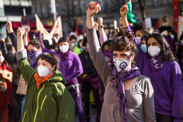 DEU: International Women's Day Draws Protests In Berlin