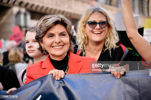 Women's rights attorney Gloria Allred speaks during the 2019 Women's March Los Angeles on January 19, 2019 in Los Angeles, California.