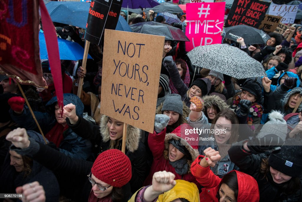 Time's Up Women's Rally Takes Place In London : News Photo