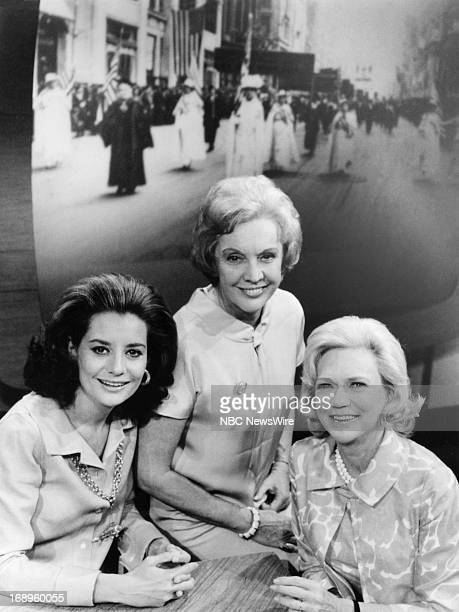 TODAY 'Women's Rights Illusion or Reality' Pictured NBC News' Barbara Walters Pauline Frederick Aline Saarinen during a special edition of 'TODAY' on...