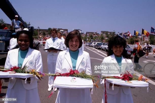 Women's road cycling medal ceremony at the 1984 Summer Olympics July 29 1984