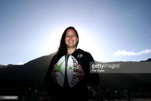 Womens Rugby 7's player Tyla Nathan-Wong poses for a portrait during the New Zealand Olympic Committee 'One Year To Go Tokyo 2020' Celebration at...