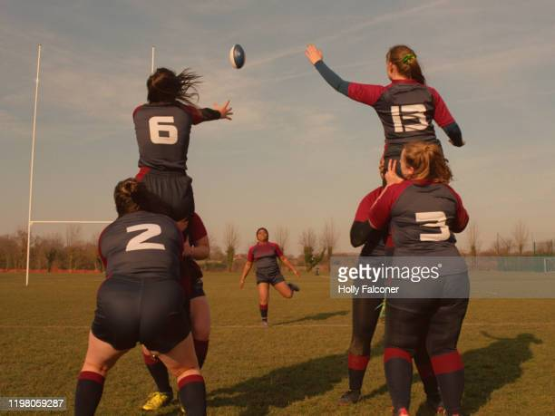 women's rugby - only women stock pictures, royalty-free photos & images