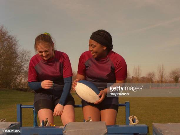 women's rugby - england rugby squad stock pictures, royalty-free photos & images