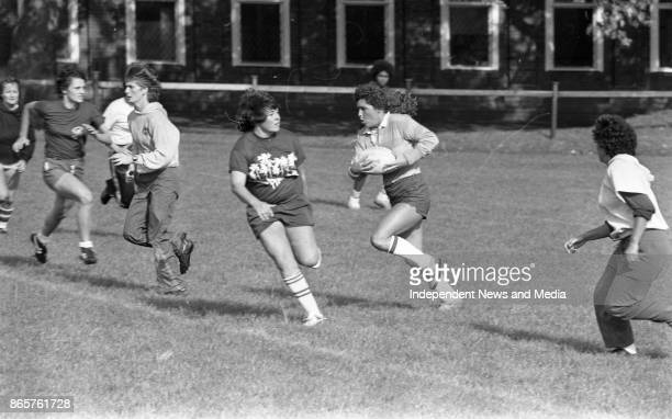 Women's rugby team the Rio Grande Surfers during a training session in College Park circa October 1983