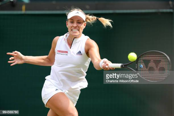 Women's Singles Angelique Kerber v Belinda Bencic Angelique Kerber at All England Lawn Tennis and Croquet Club on July 9 2018 in London England