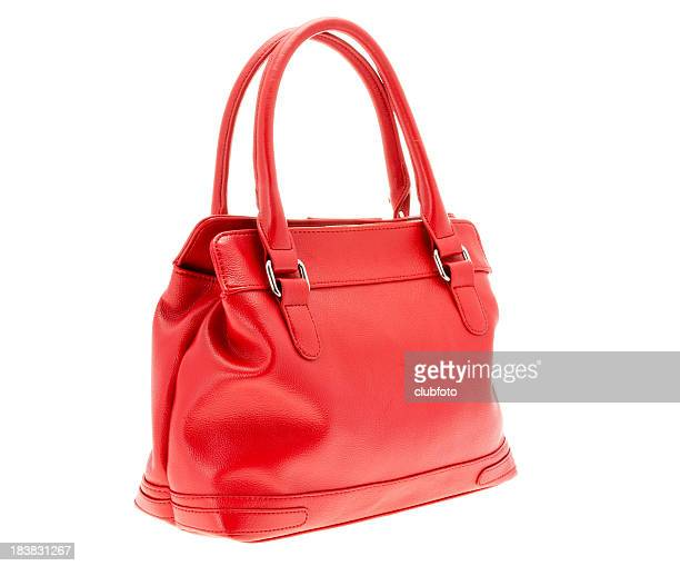 women's small red handbag purse - clutch bag stock pictures, royalty-free photos & images