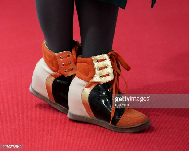 Womens sneaker shoes are seen during the China Brand Show in Warsaw, Poland on September 19, 2019. The China Brand Show is a yearly exhibition that...
