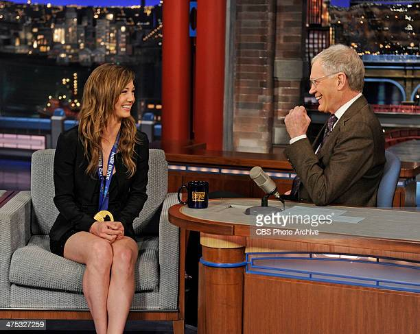 S Women's Snowboarding Halfpipe gold medalist Kaitlyn Farrington talks with Dave about her win in Sochi on the Late Show with David Letterman...