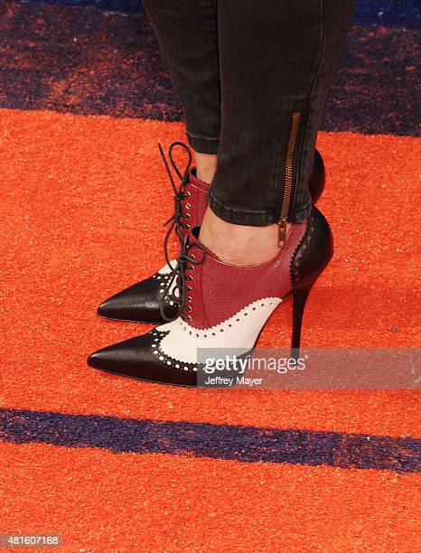 Women's soccer goalkeeper Hope Solo shoe detail at the Nickelodeon Kids' Choice Sports Awards 2015 at UCLA's Pauley Pavilion on July 16 2015 in...
