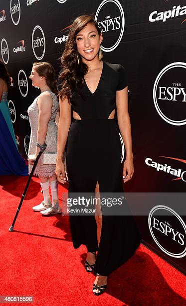 Womens Soccer player Christen Press attends The 2015 ESPYS at Microsoft Theater on July 15 2015 in Los Angeles California