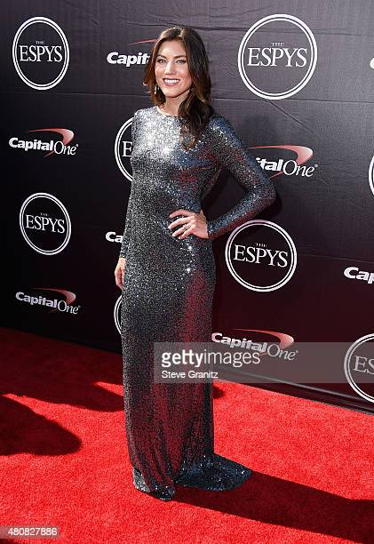 S Women's Soccer player Hope Solo attends The 2015 ESPYS at Microsoft Theater on July 15 2015 in Los Angeles California