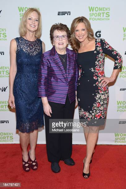 Women's Sports Foundation CEO Kathryn Olson Womens Sports Foundation Founder Billie Jean King and ESPN sports journalist Hannah Storm attend the 34th...