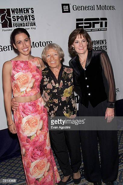 Women's Sports Hall of Fame inductees Janet Evans Agnes KeletiBiro and Bonnie Blair at the Women's Sports Foundation Annual Gala at the...