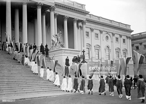 Woman's suffrage protest at the United states congress on Capitol Hill Washington DC 1917