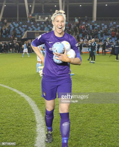 Women's Super League Manchester City Ladies v Notts County Ladies Academy Stadium Manchester City's Karen Bardsley after the game