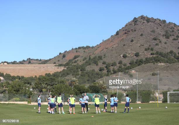 Women's Super League, Pre-Season Training Camp, Day One, La Manga, Manchester City's Womens Football Club on pre-season training in La Manga