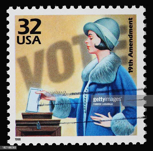 women's voting stamp - suffragist stock photos and pictures