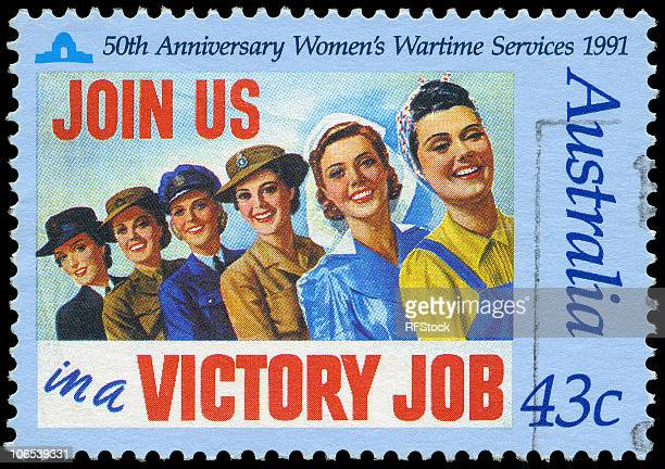 women's wartime services - world war ii stock pictures, royalty-free photos & images