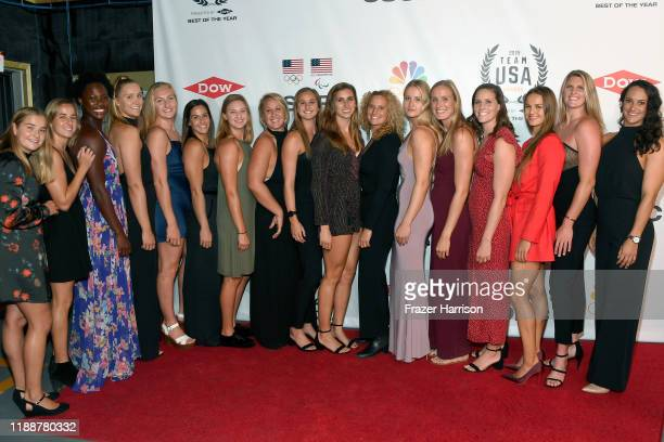 Women's Water Polo players attend the 2019 Team USA Awards at Universal Studios Hollywood on November 19 2019 in Universal City California
