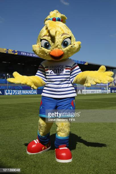 Women's World Cup France 2018 mascot Ettie prior to the FIFA U20 Women's World Cup France 2018 group A match between New Zealand and Netherlands at...