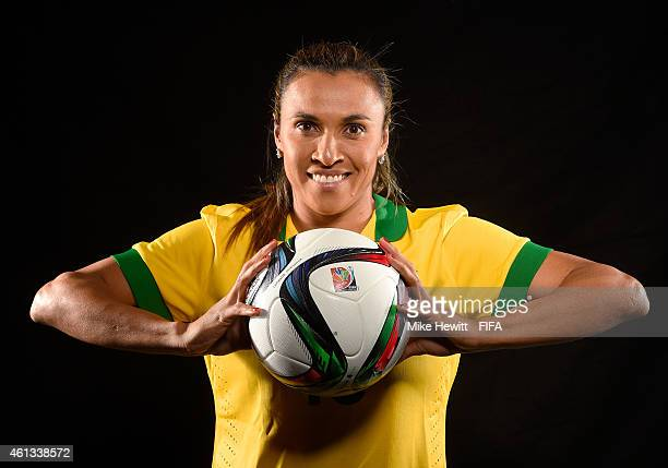 Women's World Player of the Year nominee Marta Vieira da Silva of Brazil poses for a portrait prior to the FIFA Ballon d'Or Gala 2014 at the...