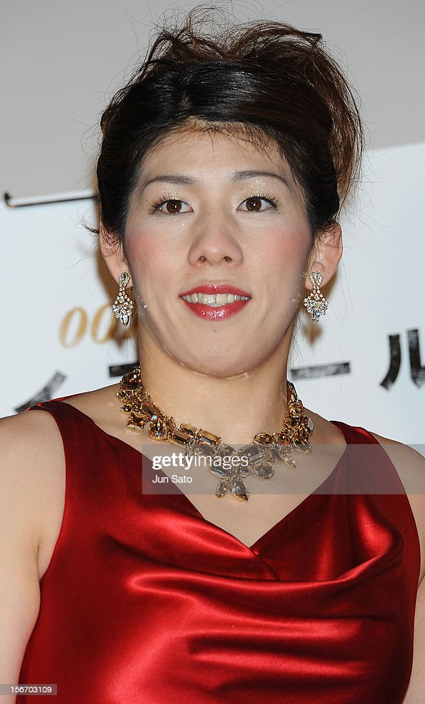 Women's wrestling gold medalist Saori Yoshida appears on stage while attending the 'Skyfall' Japan Premiere at Toho Cinemas Nichigeki on November 19, 2012 in Tokyo, Japan. The film will open on December 1.