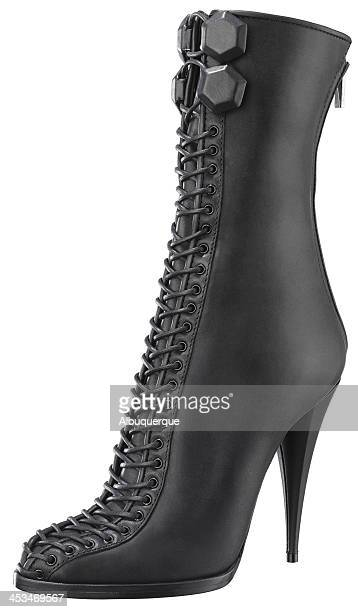 womens-boot - black boot stock pictures, royalty-free photos & images