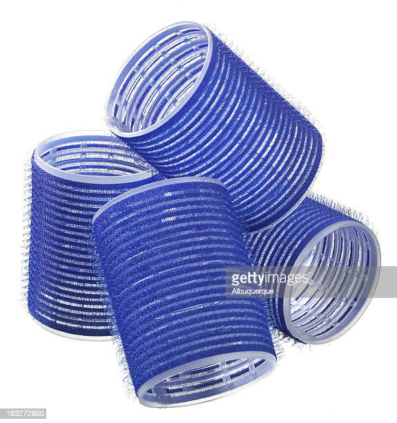womens-hair curlers - nylon fastening tape stock photos and pictures