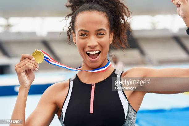 i won gold! - gold medal stock pictures, royalty-free photos & images