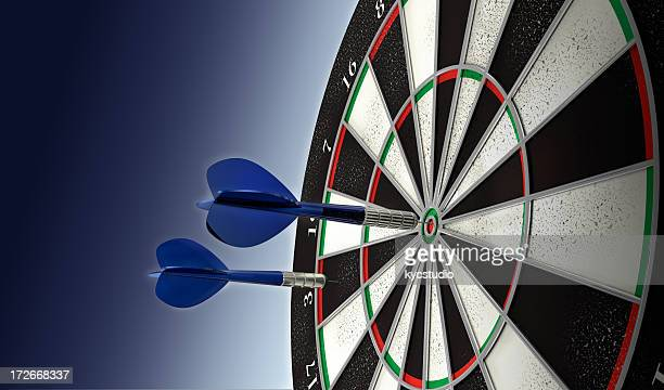 won! - dartboard stock pictures, royalty-free photos & images