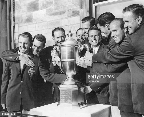 Won Walker Cup For United States-14th Time. St. Andrews, Scotland: The jubilant American golfers who won the walker cup for the United States for the...