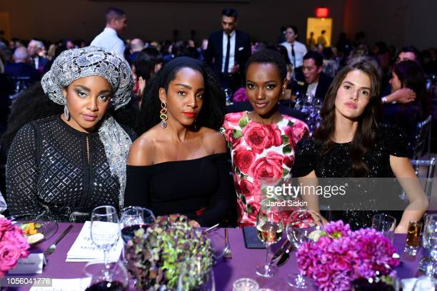 Wonder, Cipriana Quann, Herieth Paul and Vanessa Moody attend The 12th Annual Golden Heart Awards at Spring Studios on October 16, 2018 in New York...