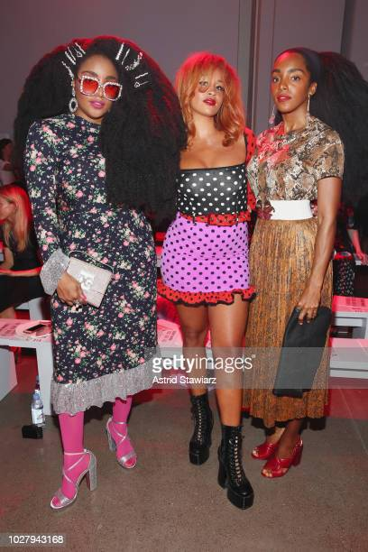 Wonder Lion Babe and Cipriana Quann attend the Discount Universe front row during New York Fashion Week The Shows at Gallery II at Spring Studios on...