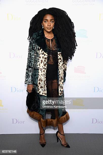 Wonder Quann attends the 2016 Guggenheim International PreParty made possible by Dior at Solomon R Guggenheim Museum on November 16 2016 in New York...