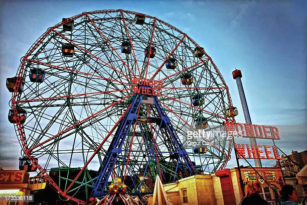 Wonder Wheel is a landmark of Coney Island, New York