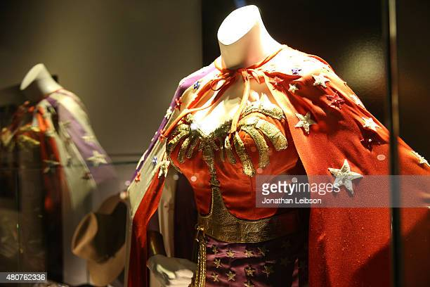 Wonder Woman costume seen at the Warner Bros Studio Tour Hollywood Expansion Official Unveiling Stage 48 Script To Screen at Warner Bros Studios on...