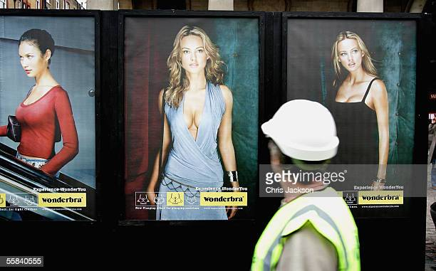 Wonderbra unveil their new 'Experience WonderYou' 48sheet billboard campaign on October 3 2005 at the West Piazza in Covent Garden London England...