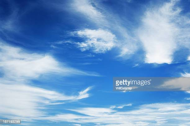 Wonderful blue sky, with some white clouds
