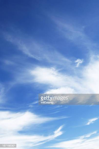 Wonderful blue sky, with some white clouds.