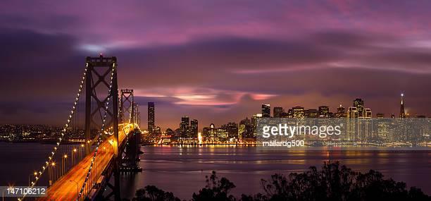 wonderful bridge - bay bridge stock pictures, royalty-free photos & images