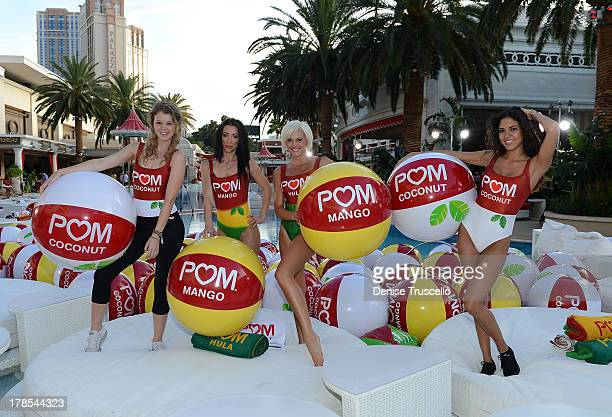 Wonderful dancers POM Hula POM Coconut and POM Mango celebrate the launch of POM Juice Blends where 125 people set the Guinness World Record for the...
