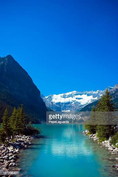 wonderful lake - lake louise stock photos and pictures
