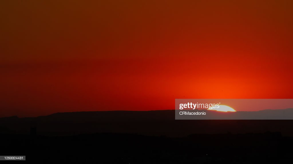Wonderful sunset. Every day the sun gives us the wonders of falling asleep. : Stock Photo