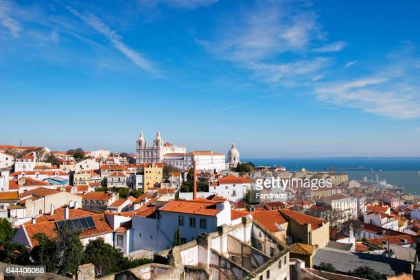 wonderful view of the city lisbon - lisbon stock pictures, royalty-free photos & images