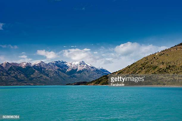 Wonderful views of the Argentine Lake and Mountains National Park los Glaciers, El Calafate, Argentina.