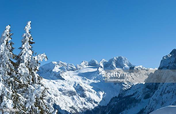 wonderful winter landscape of the austrian alps - schladming stock pictures, royalty-free photos & images