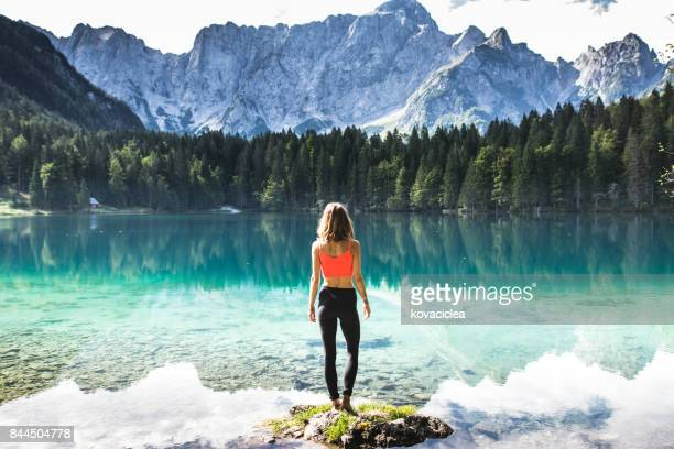 wonderlust - yoga pants stock photos and pictures